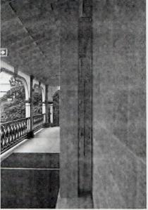 Side view of air-locked doors