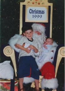Santa, Liam and Dylan, 1999