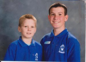 Dylan and Liam, Wynnum Central State School, 2007