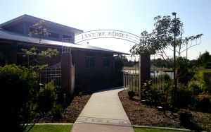 The old Wynnum Central Gates at the new Wynnum State School.  Photography by Julie-Ann Ellis